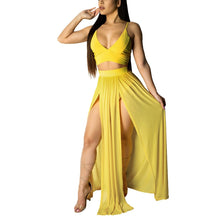 Look! But Don't Touch, 2 Piece Crop Top & Skirt Set (Sizes:S-XXL)