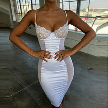 Sexy Bra Lace Peekaboo Party Dress