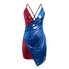 Multi Colored V- Neck Backless S -Plus size summer dress