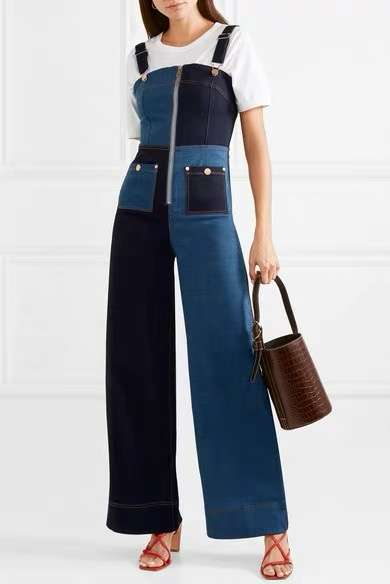 2019 Spring Strapless Jean Jump Suits