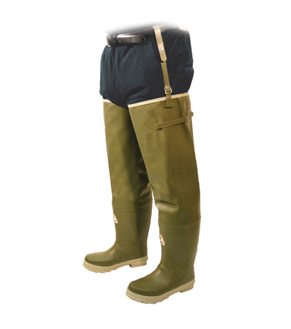 Prairie Hip, Green | 33'' Waders rain boots with removable felt liner