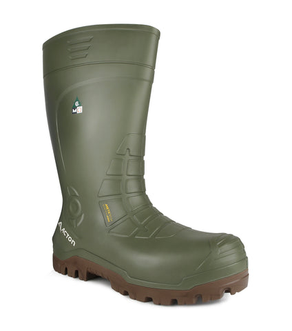 Bering, Green | Winter work boot in PU
