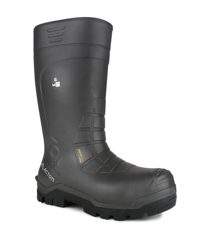All Weather, Grey | PU insulated work boots | Metatarsal protection