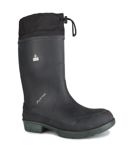 Stormy CSA, Black | Safety Rubber Work Boots | Removable Felt Liner