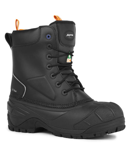 Winterforce, Black | 11'' Winter Work Boots | Removable Felt Liner