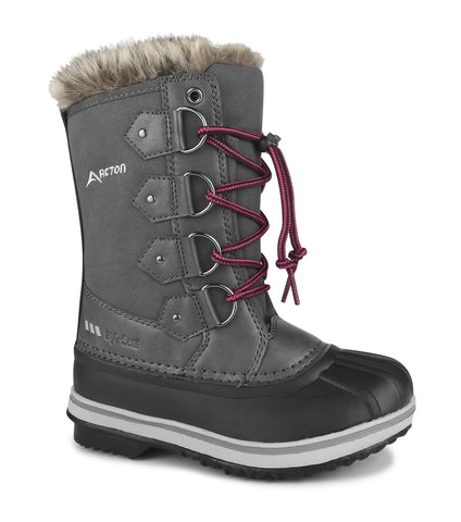 Cortina, Grey | Kids winter boots with removable felt