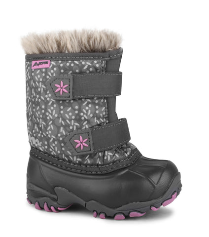 Giggle, Grey | Winter boots for toddlers with removable felt