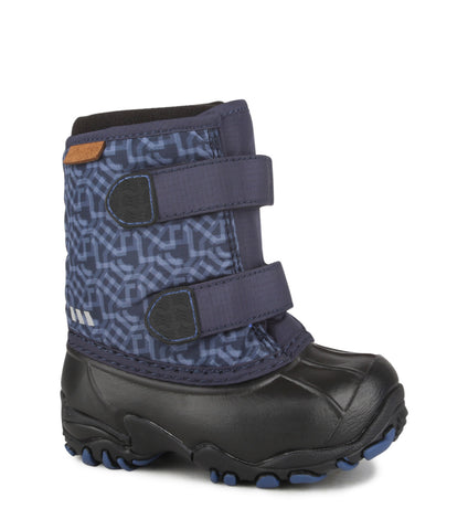 Giggle, Navy | Winter boots for toddlers with removable felt