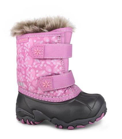 Giggle, Pink | Winter boots for toddlers with removable felt