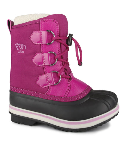 Snowflake, Pink | Kids Winter Boots