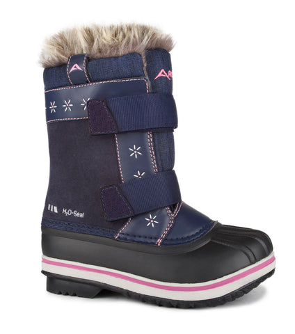 Lea, Navy | Kids winter boots with removable felt