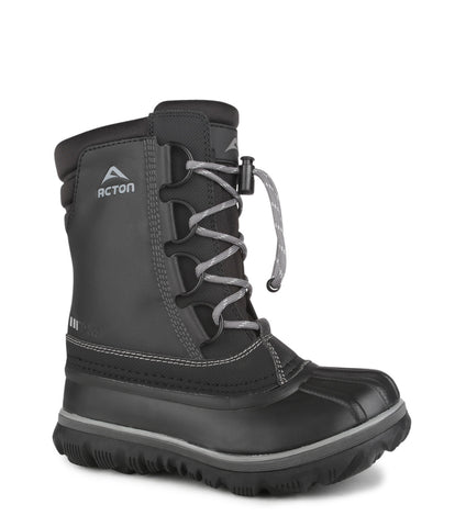 Rock, Black | Kids winter boots with removable felt