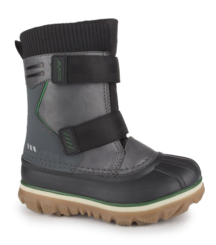 Rocky, Grey | Kids winter boots with removable felt