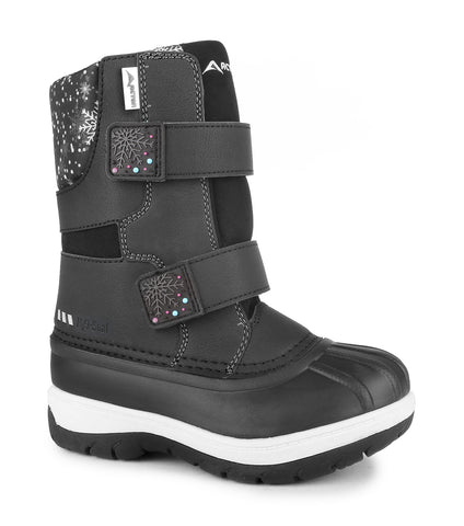 Candy, Black | Kids winter boots with removable felt
