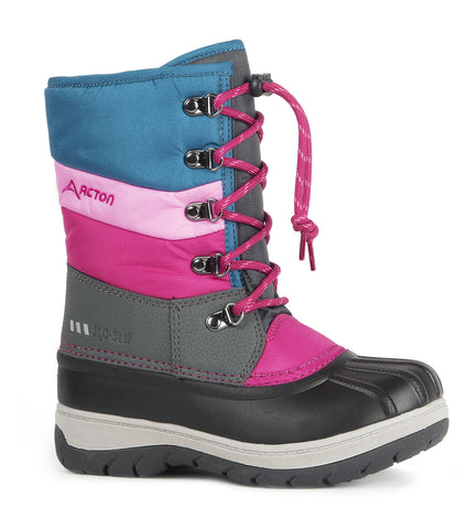 Gummy, Black & Pink | Kids winter boots with removable felt