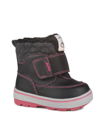 Cosmos, Black & Pink | Winter boots for toddlers
