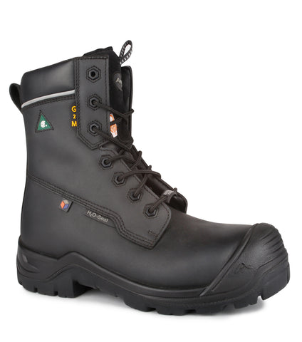 "G2M, Black | Metal Free 8"" Leather Work Boots"