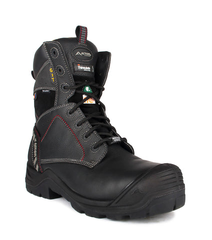 "G2T, Black | 8"" Work Boots metal free and extra-wide fil"