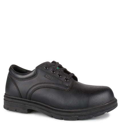 Lincoln, Black | Laced Vegan Work Shoes in Chemtech