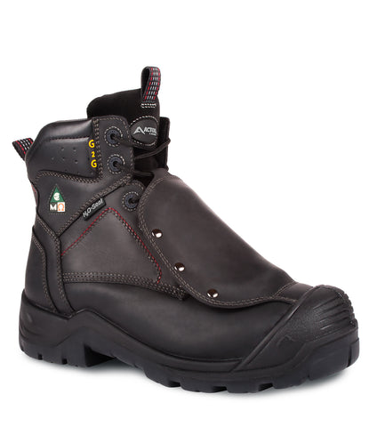 "G2G, Black | Leather 6"" Work Boots 