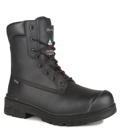 "Prospect, Black | Chemtech 8"" Work Boots"