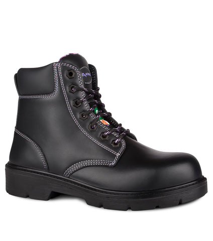 "Prolady, Black |  5"" Leather Work Boots for Women"
