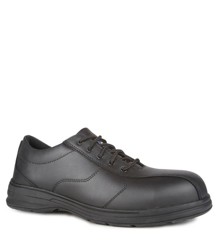 Axis, Black | SD Static Dissipative Leather Work Shoes | Laced Design