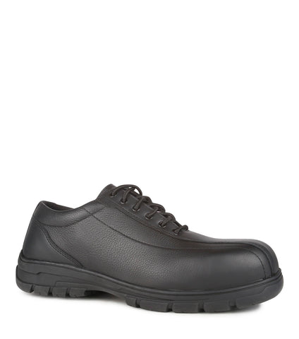 Fairway, Black | Extra-wide Fit Leather Work Shoes | CSA & ESR