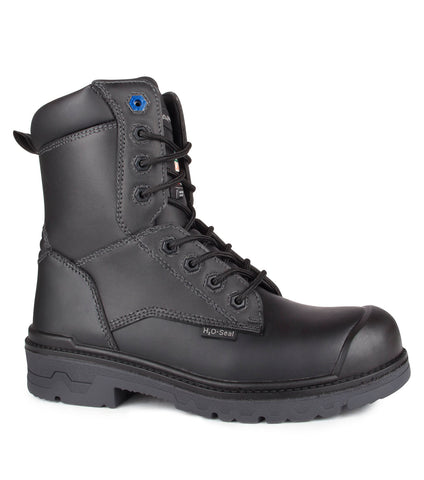 "Progum, Black | Waterproof Leather 8"" Work Boots 