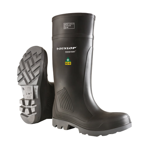 Purofort Professional Full Safety, Charcoal | CSA SD Safety Rain Boots
