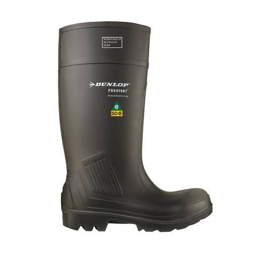 Purofort Professional Full Safety, Charcoal | CSA SD Safety Rain Boots - Dunlop Canada
