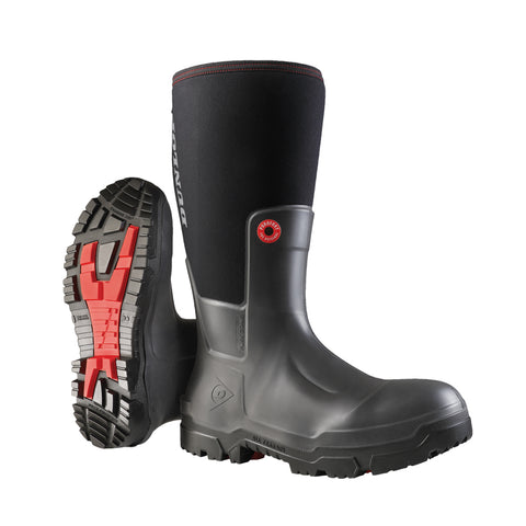 Snugboot Pioneer , Charcoal | Rain boots with breathable membrane