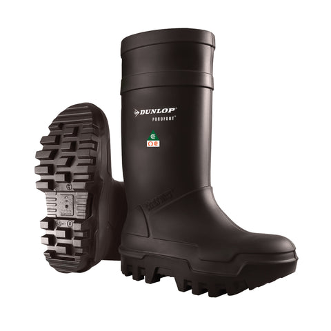 Purofort Thermo+ Full Safety, Black | Safety Rain Boots | ESR