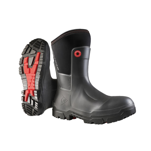 Snugboot Craftsman Full Safety, Black & Grey | CSA Work Boots - Dunlop Canada