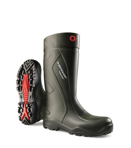 Purofort+, Green | Lightweight Anti-slip Rain Boots