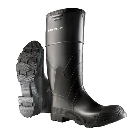 Economy Steel Toe, Black | Safety Rain Boots | Steel toe & plate