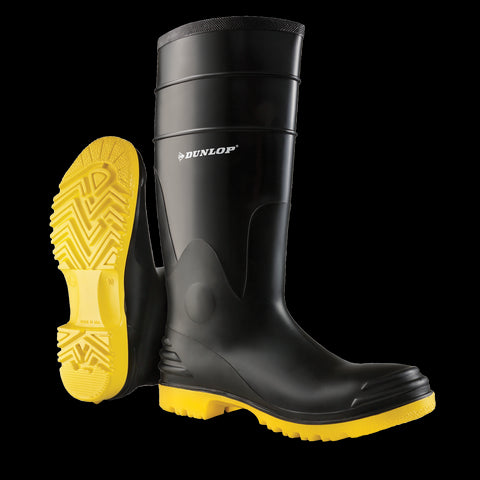 Polysteel Ultragrip, Black & Yellow | Boots for the food industry - Dunlop Canada