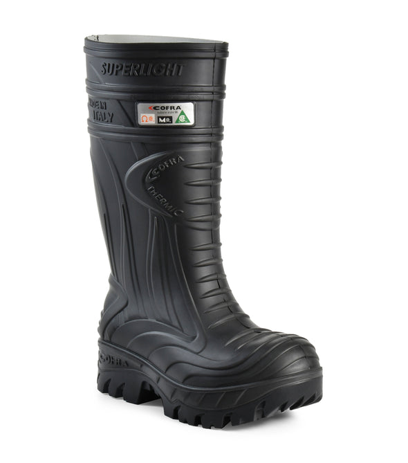 Thermic, Black | PU boots with metatarsal protection and insulated