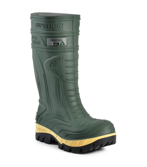 Thermic, Green | Insulated PU Work boots with Metatarsal Protection - Cofra