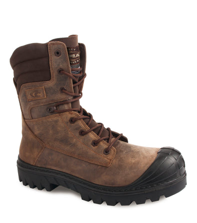 "Houston, Brown | 8"" Work Boots metal free and anti slip"