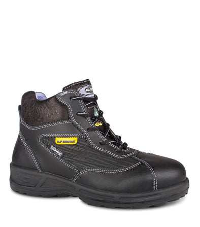 "New Brigitte, Black | Woman 6"" Safety Work Boots 