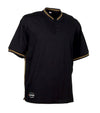 Malaga, Black | 100% Cotton T-Shirt | 2 buttons Collar | Quick-drying
