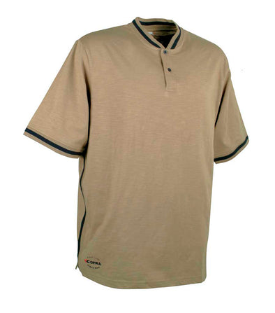 Malaga, Clay Brow | Breathable & Quick-drying CoolDRY Bottons T-shirt