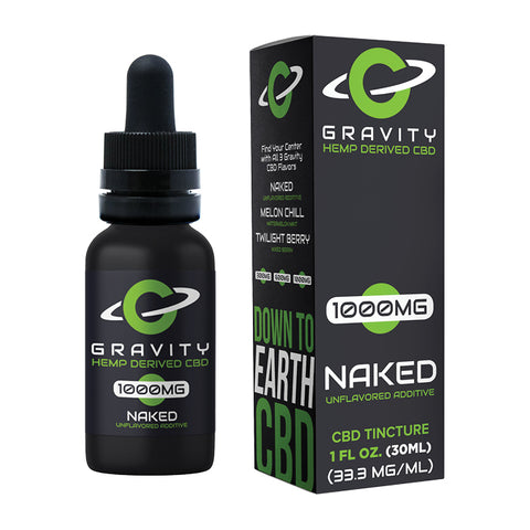 Gravity CBD Naked Unflavored Additive 1000MG