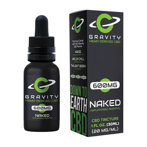 Gravity CBD Naked Unflavored Additive 600MG