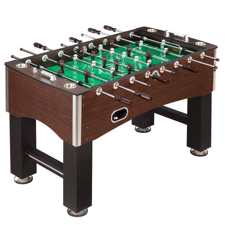 Hathaway Primo 56-Inch Foosball Table, Family Soccer Game with Wood Grain Finish - Recreation.Deals