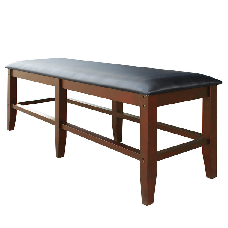 Carmelli Unity Bench - Hardwood Seating w Maple Finish for Game Rooms