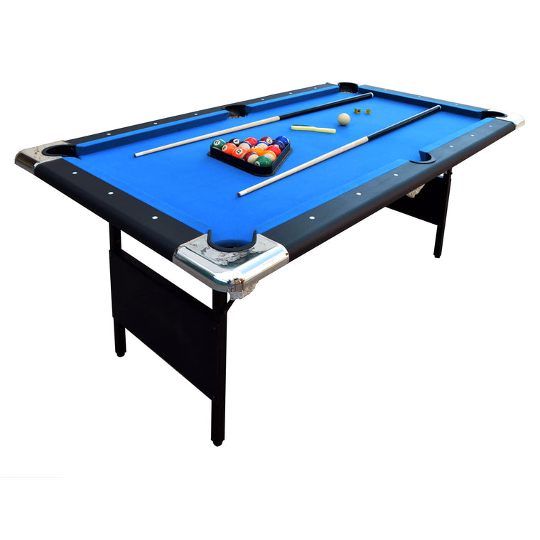 Hathaway Fairmont Portable 6-Ft Pool Table with Easy Folding for Storage