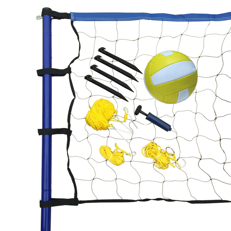 Hathaway Portable Volleyball Net, Posts, Ball & Pump Set