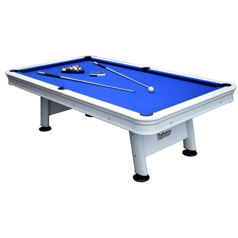 Hathaway Alpine 8-ft Outdoor Pool Table with Aluminum Rails & Waterproof Felt